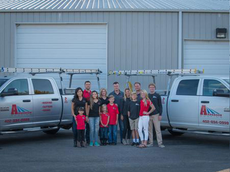 anderson roofing family