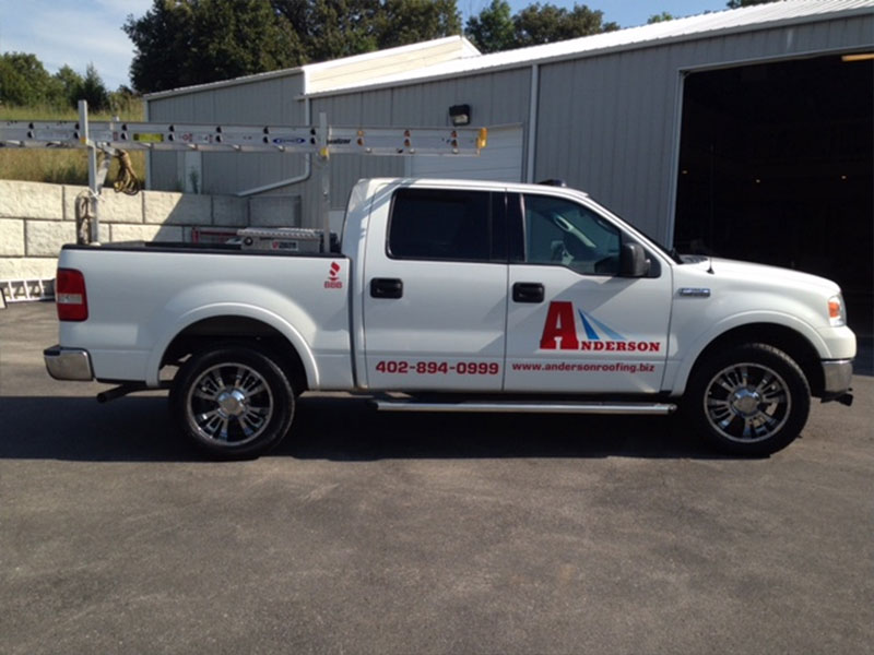 anderson roofing truck